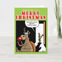 Blackmail at Christmas Holiday Card