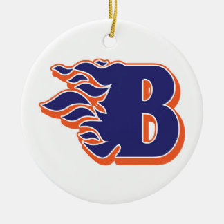Blackman Blaze Youth Football and Cheerleading Ceramic Ornament