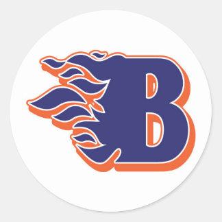 Blackman Blaze Youth Football and Cheerleading Classic Round Sticker