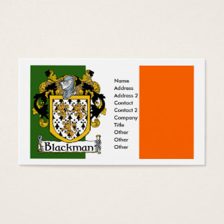 Blackman Coat of Arms Business Cards