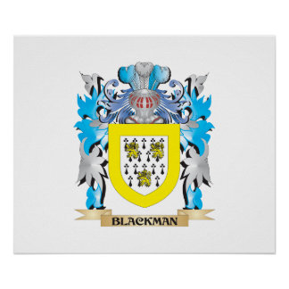 Blackman Coat of Arms Poster