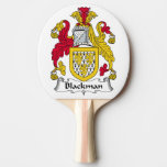 Blackman Family Crest Ping Pong Paddle