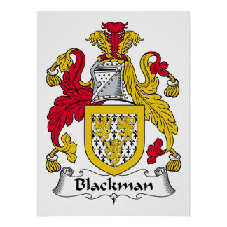 Blackman Family Crest Poster
