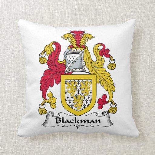 Blackman Family Crest Throw Pillow