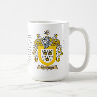 Blackman, the Origin, the Meaning and the Crest Coffee Mug