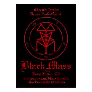 blackmasspent1, artista oculto, Anti-Chri icónico… Tarjetas De Visita Grandes