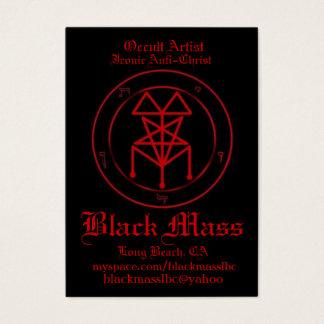 blackmasspent1, Occult Artist, Iconic Anti-Chri... Business Card