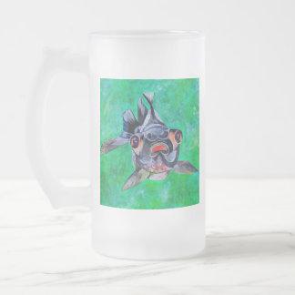 Blackmoor Goldfish Frosted Glass Beer Mug