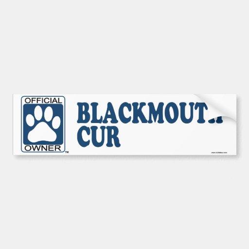 Blackmouth Cur Blue Bumper Sticker