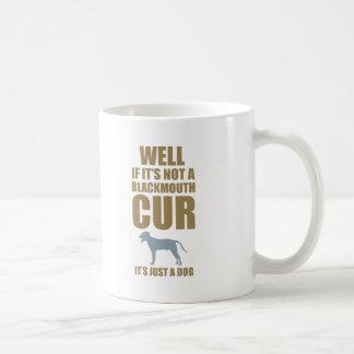 Blackmouth Cur Classic White Coffee Mug