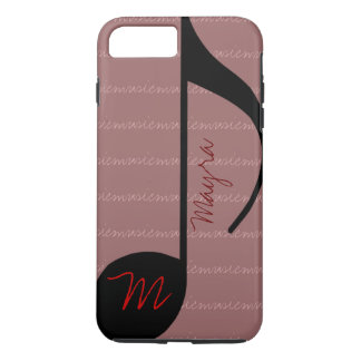 blackonpink music-note personalized iPhone 7 plus case