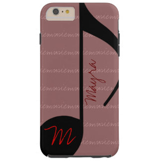 blackonpink music-note personalized tough iPhone 6 plus case