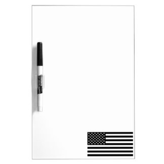 Blackout American Flag Dry-Erase Board