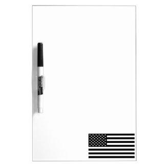Blackout American Flag Dry Erase Whiteboards