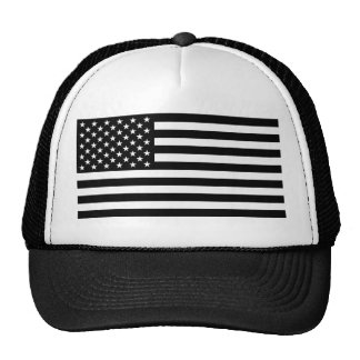 Blackout American Flag Mesh Hat