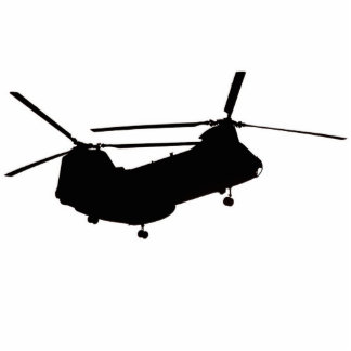 Blackout CH-46 Helicopter Statuette