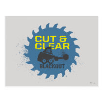 Blackout Cut & Clear Postcard
