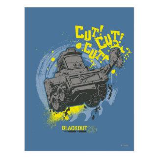 Blackout Cut! Cut! Postcard