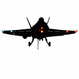 Blackout F-18 Hornet Standing Photo Sculpture