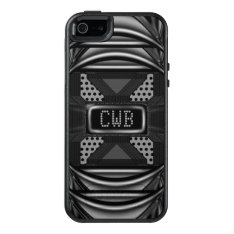 Blackout Monogram Modern Personalize Cool Otterbox Iphone 5/5s/se Case at Zazzle