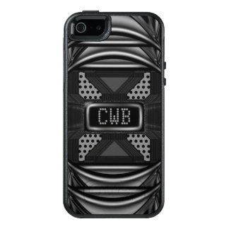 BlackOut Monogram Modern Personalize Cool OtterBox iPhone 5/5s/SE Case