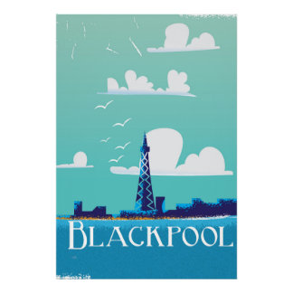 Blackpool, England vintage travel poster
