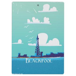 Blackpool, England vintage travel poster Clipboard