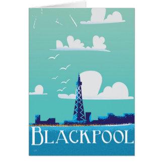 Blackpool, England vintage travel poster Greeting Card