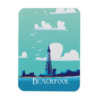 Blackpool, England vintage travel poster Magnet
