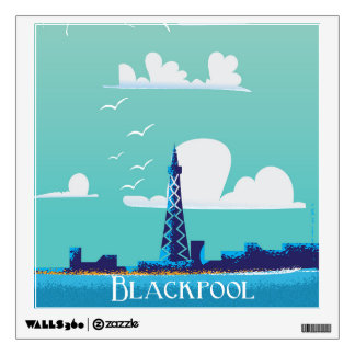 Blackpool, England vintage travel poster Room Graphics