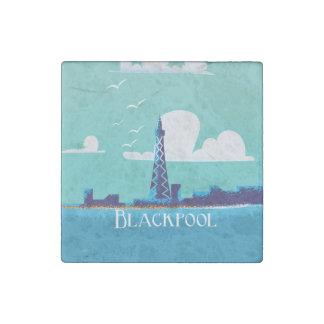 Blackpool, England vintage travel poster Stone Magnet