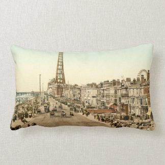 Blackpool Promenade, Lancashire, England Lumbar Pillow