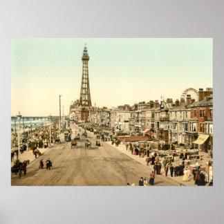 Blackpool Promenade, Lancashire, England Poster