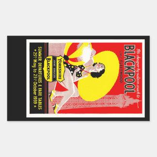 Blackpool Rectangular Sticker
