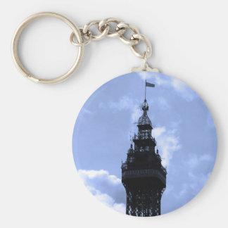 Blackpool Tower Basic Round Button Keychain