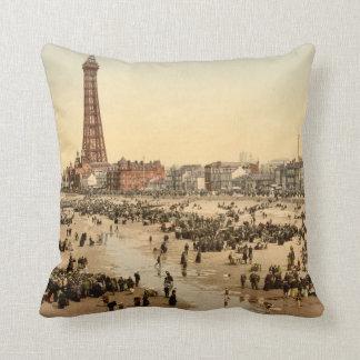 Blackpool Tower II, Lancashire, England Throw Pillow