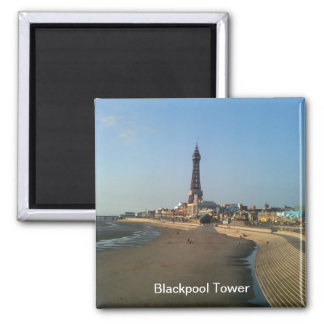 Blackpool Tower in England 2 Inch Square Magnet