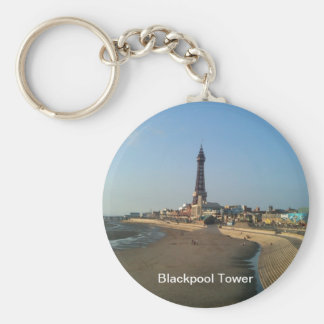 Blackpool Tower in England Basic Round Button Keychain
