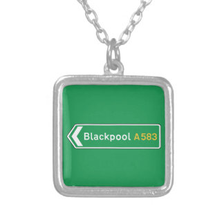 Blackpool, UK Road Sign Pendant