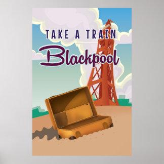Blackpool vintage travel poster