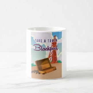 Blackpool vintage travel poster classic white coffee mug