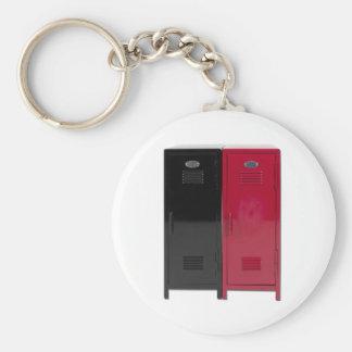 BlackRedLockers090411 Key Chain