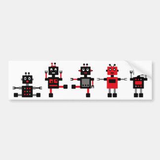 BlackRobot4 Pegatina De Parachoque
