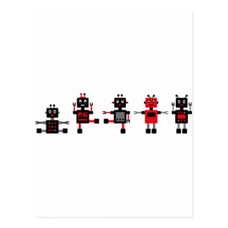 BlackRobot4 Tarjeta Postal