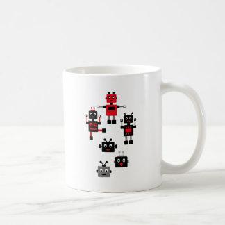 BlackRobot8 Classic White Coffee Mug