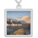 Blackrock Cottage, Glencoe, Highlands, Scotland 3 Square Pendant Necklace