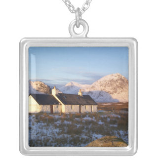 Blackrock Cottage, Glencoe, Highlands, Scotland Silver Plated Necklace