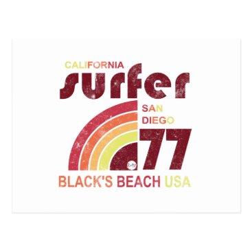 Beach Themed blacks beach california postcard