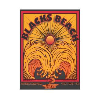 BLACKS BEACH SAN DIEGO CALIFORNIA SURFING CANVAS PRINT