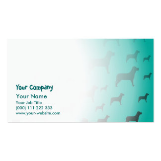 Blacks dogs pattern business card template